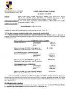 Compte-rendu du Conseil Municipal du 11 avril 2019