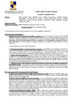 Compte-rendu du Conseil Municipal du 13 septembre 2018
