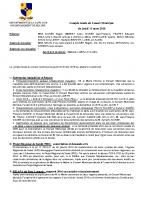 Compte-rendu du Conseil Municipal du 15 mars 2018