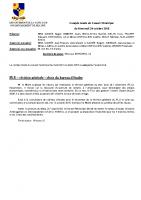 Compte-rendu du Conseil Municipal du 24 octobre 2018