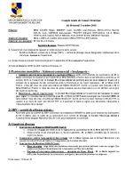 Compte-rendu du Conseil Municipal du 3 octobre 2018