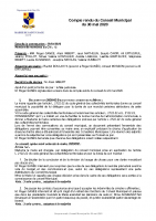 Compte-rendu du Conseil Municipal du 30 mai 2020