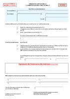 Formulaire de Demande second livret de famille